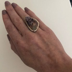 Jewelry - Sterling Silver Asymmetrical Charoite Artisan Ring